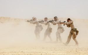 """US-Marines der 26th Marine Expeditionary Unit bei einer Schießübung im Rahmen der Übung """"Eager Lion 13"""" im letzten Jahr. Bild: DoD photo by Sgt. Christopher Q. Stone, U.S. Marine Corps/Released. Bildlizenz"""